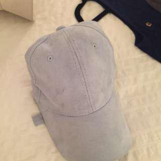 Fashion Nova Suede Light Blue Cap