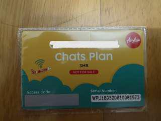Airasia Chats Plan 3MB (3 Sets)