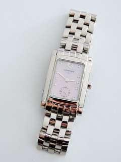🚚 真品 浪琴表 Longines 珍珠母貝鑲鑽錶 女錶