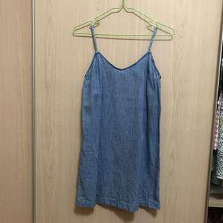 Bershka Denim Mini Cami Dress