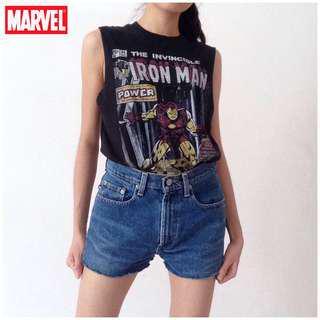 Marvel Iron Man Muscle Tank Top Black Graphic Women S