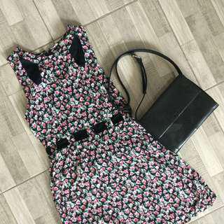 H&M Floral Cut-Out Dress