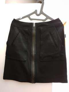 DKNY Black Zipper Skirt