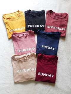 7 days shirt ( two for 260php)