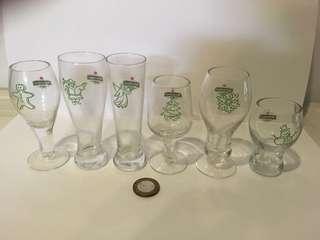 Heineken miniature glasses