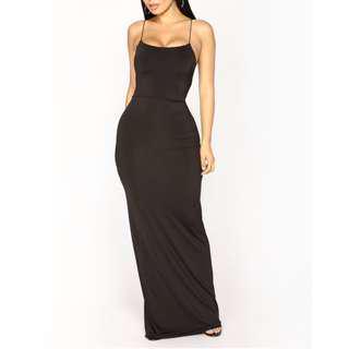 Maxi slinky dress size small