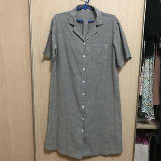 Striped Midi Shirtdress