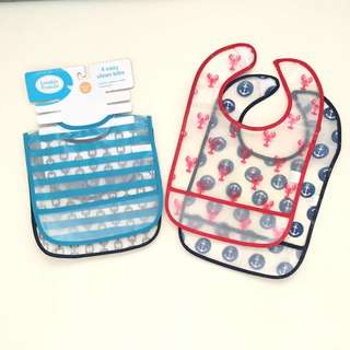 Take-all Brand New and Preloved Luveable Friends Waterproof Bibs