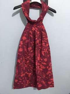 Printed Halter Top Dress