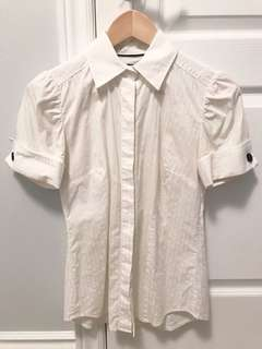 Club Monaco button-down top with French Cuffs in XS
