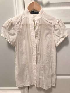 Club Monaco white button-down top in XS