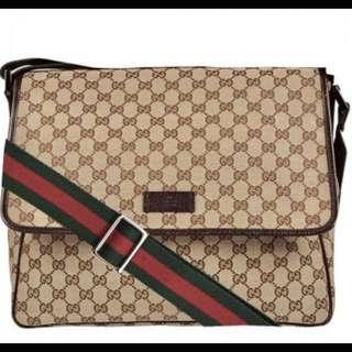 72589e22be17 Banting harga Gucci messenger bag authentic preloved