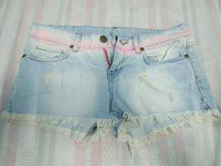 low waist denim short