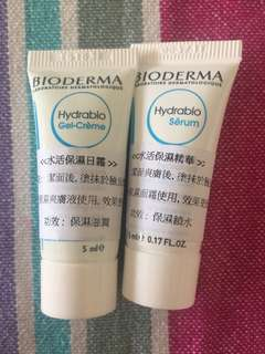( ew) bioderma hydrablio skincare sample X2 水活保濕日霜精華試用裝