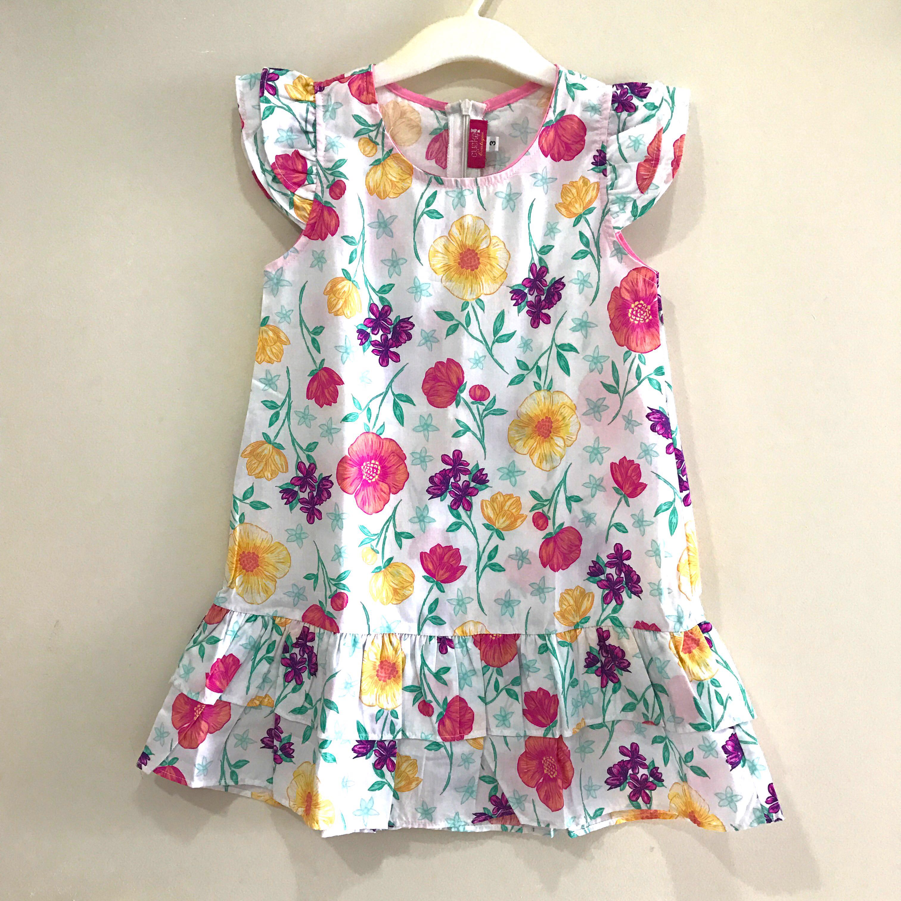 3t Brand New Pretty Flower Dress Babies Kids Girls Apparel 1