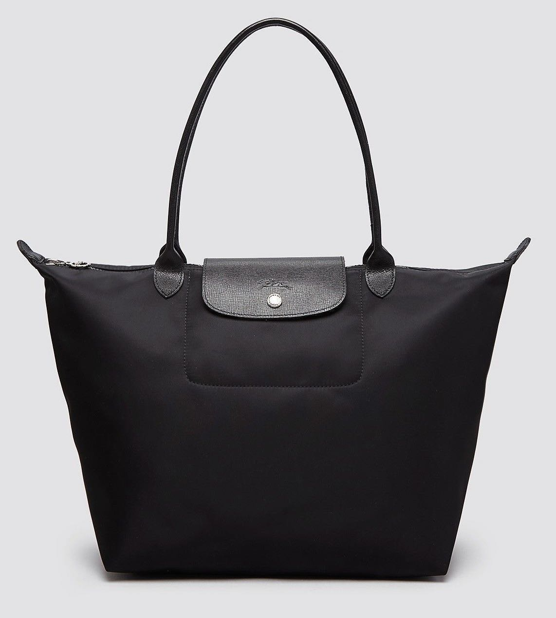 🇫🇷 Authentic Longchamp Le Pliage Neo Tote Bag Large  Black ... 5009328b47485