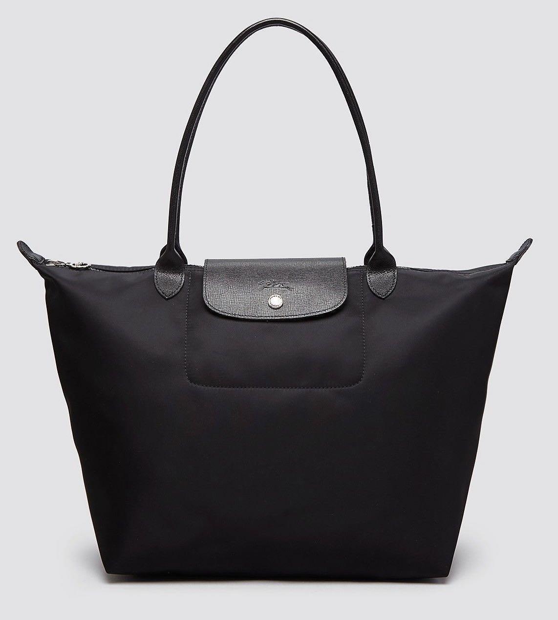 🇫🇷 Authentic Longchamp Le Pliage Neo Tote Bag Large  Black ... 5a2a29083a14c