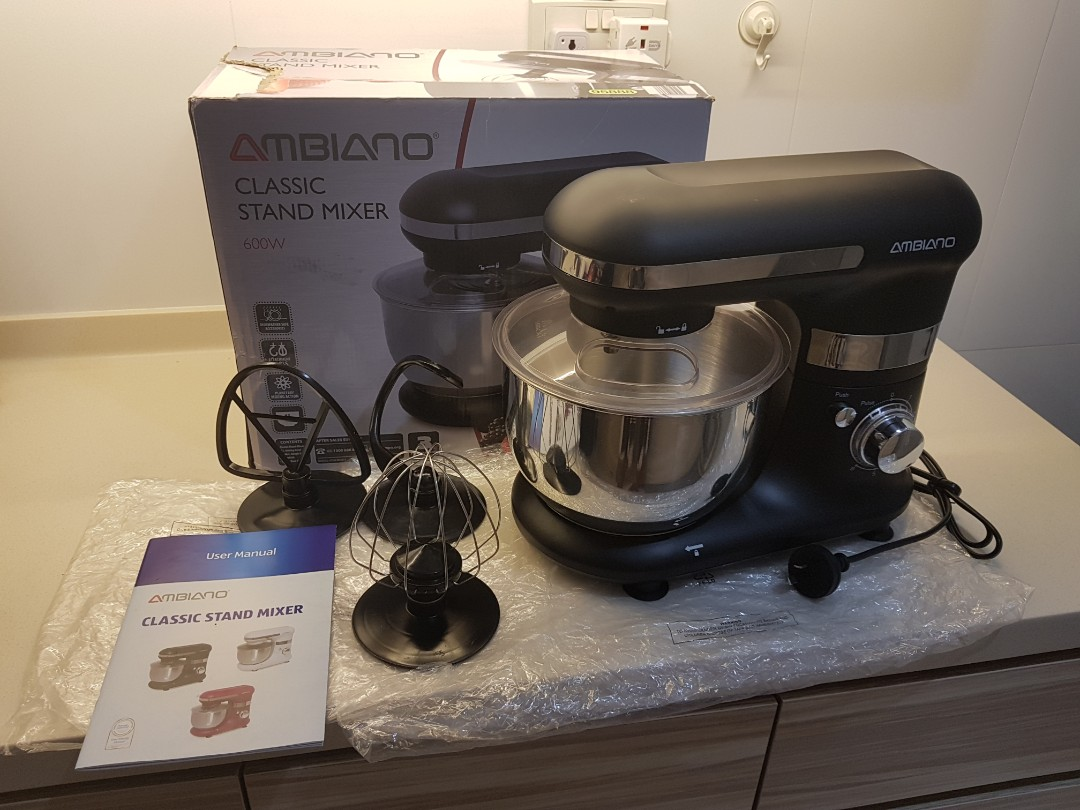 Ambiano Classic Stand Mixer 600W Colour Black 6 Speed Control