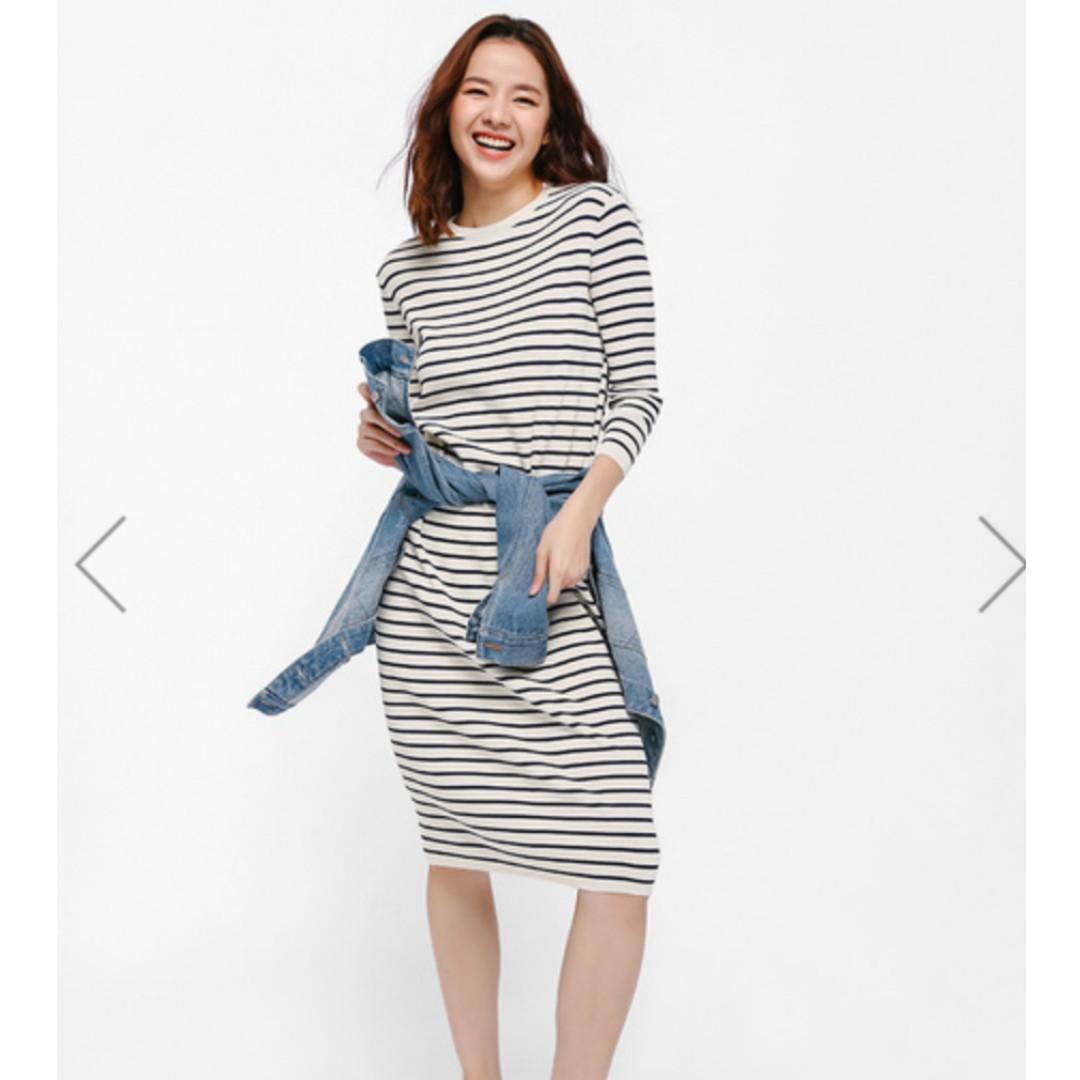 7799e5c797f BNWT LOVE BONITO Dyliki Striped Mid T-shirt Dress M