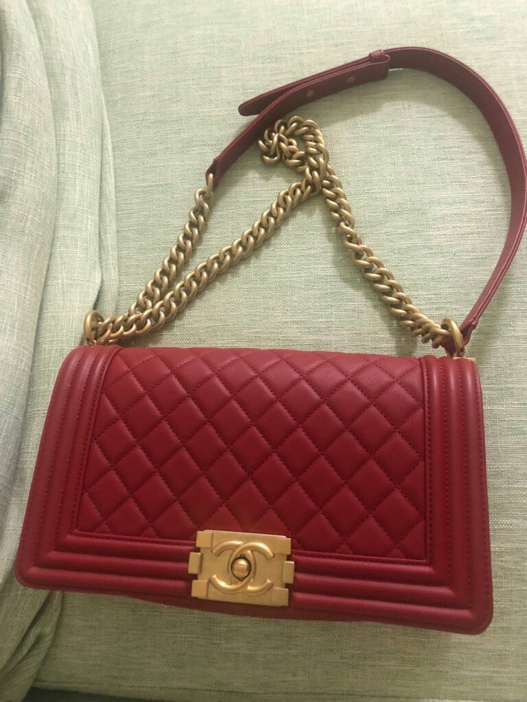 676cd6a31d9aa8 Chanel Boy Old Medium A67086 Caviar Leather, Luxury, Bags & Wallets ...