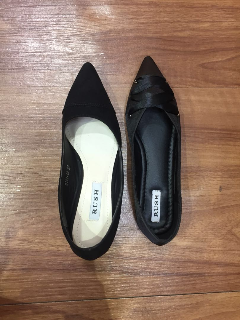 69368059c13 Chanel style size 37 black block heels (pictured left) Item on right also  available for sale. PM if keen
