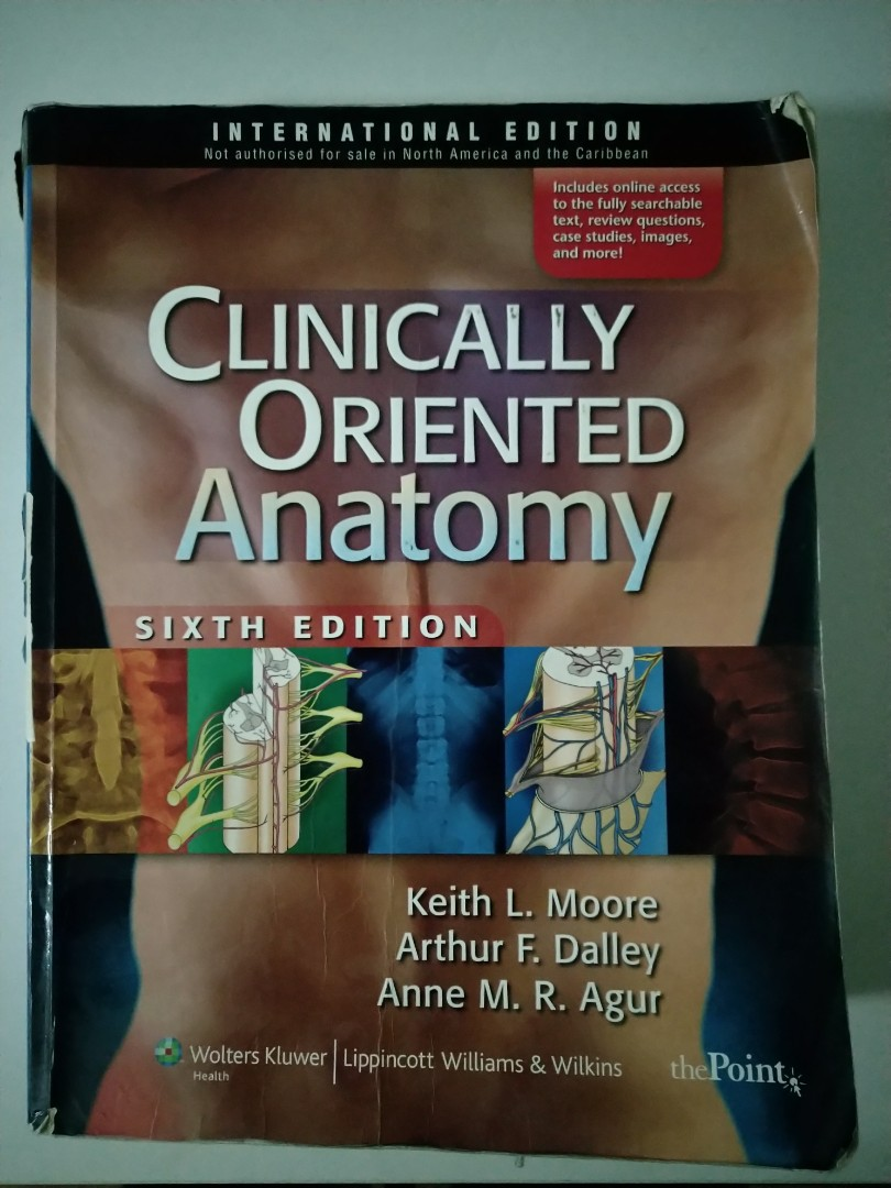 Clinical oriented anatomy Moore, Books & Stationery, Textbooks ...