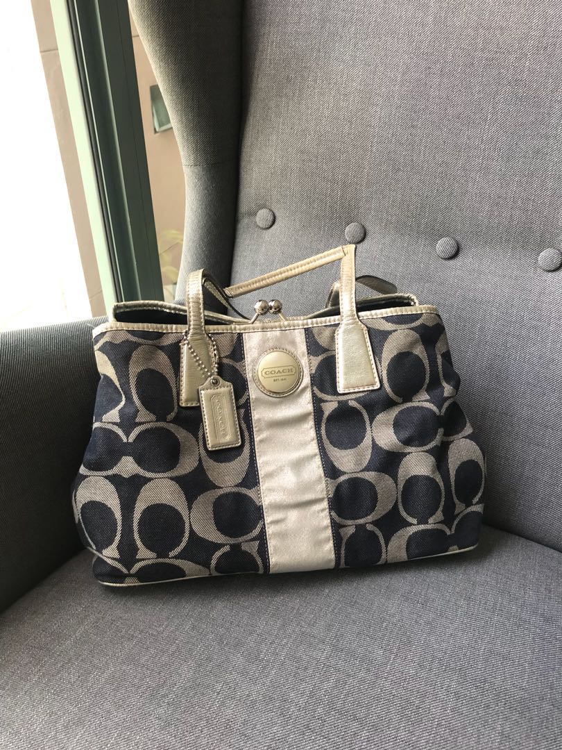 Coach Bag Womens Fashion Bags Wallets Handbags On Carousell Small Margot Carryall In Signature Canvas F34608 Photo
