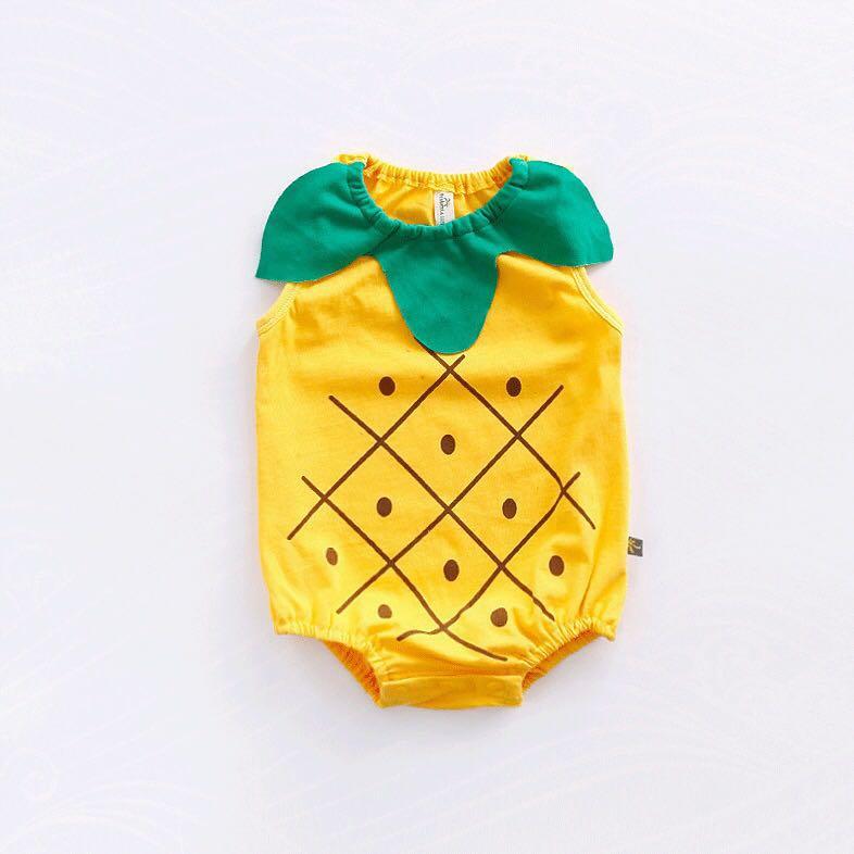 71dfe55b5a28 Cute pineapple baby onesie romper 3-6months