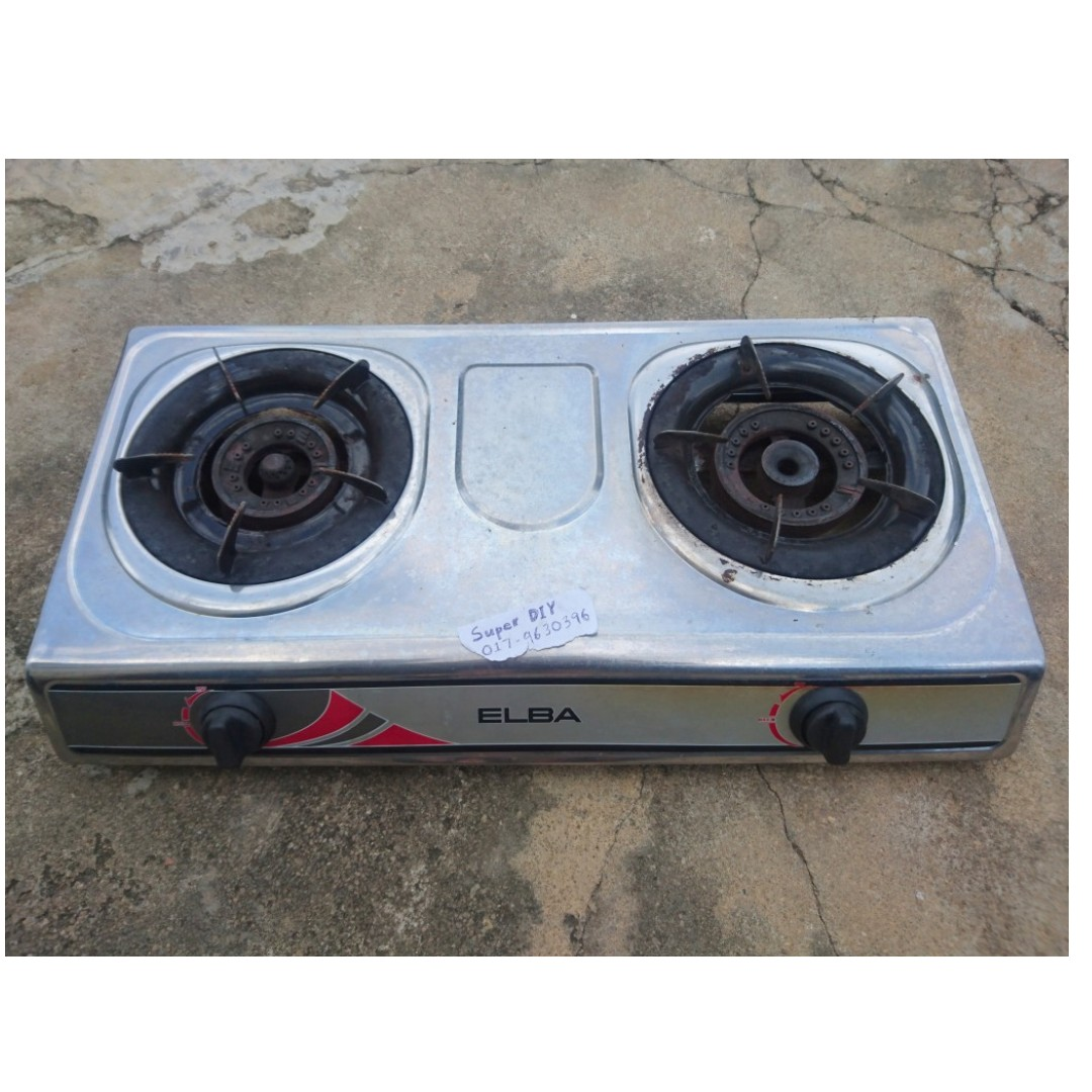 Elba Double Burner Gas Stove Alat Dapur Masak Kitchen Liances On Carou