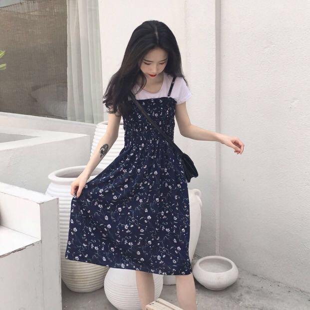 Floral Dress Korea Style Women S Fashion Clothes Dresses Skirts