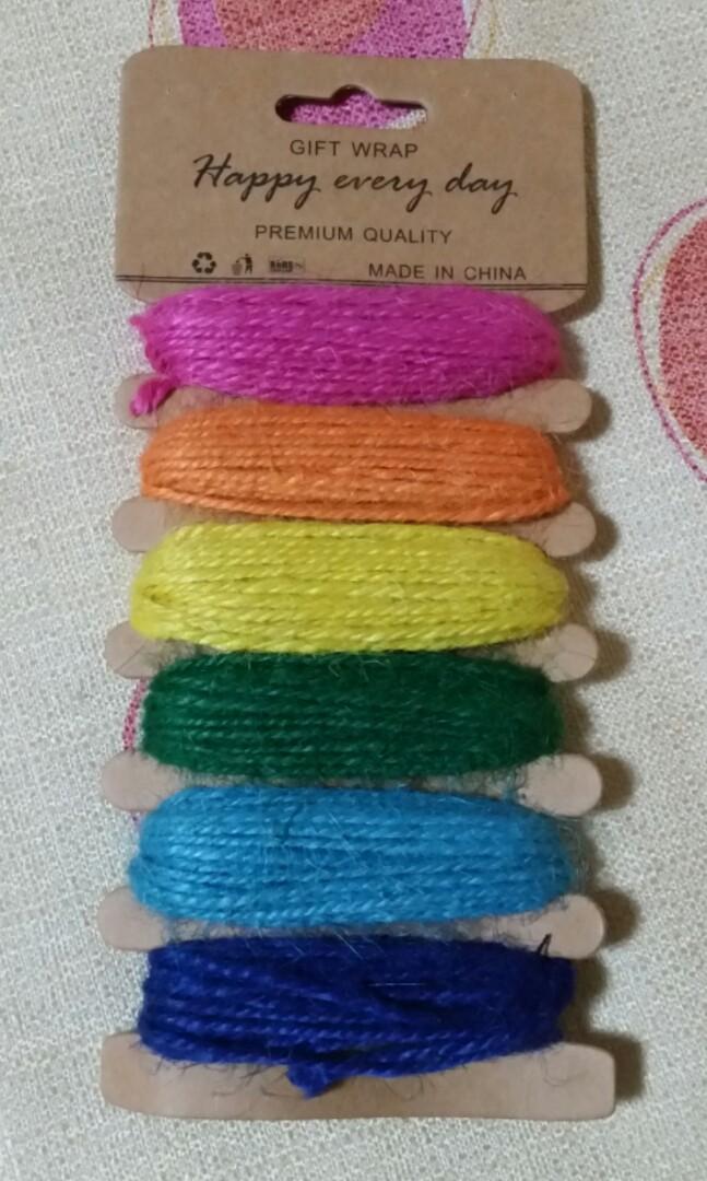 Gift Wrap Weaving Colorful Rainbow Threads Yarns Crochet Cotton