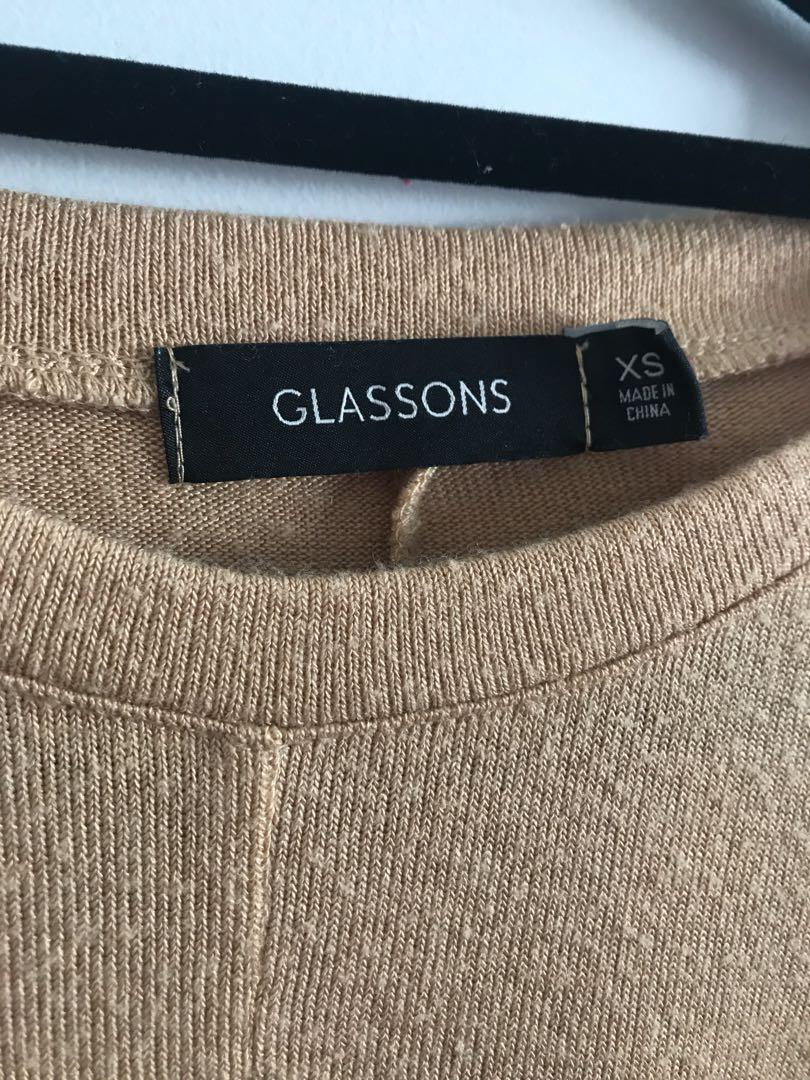 Glassons Yellow Long Sleeve Jersey/Top
