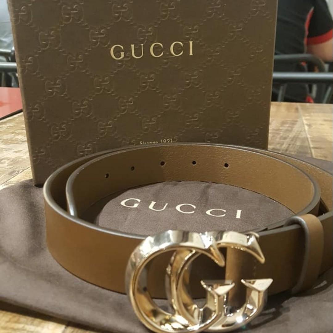 82c698c4d4e GUCCI Interlocking G Belt in brown