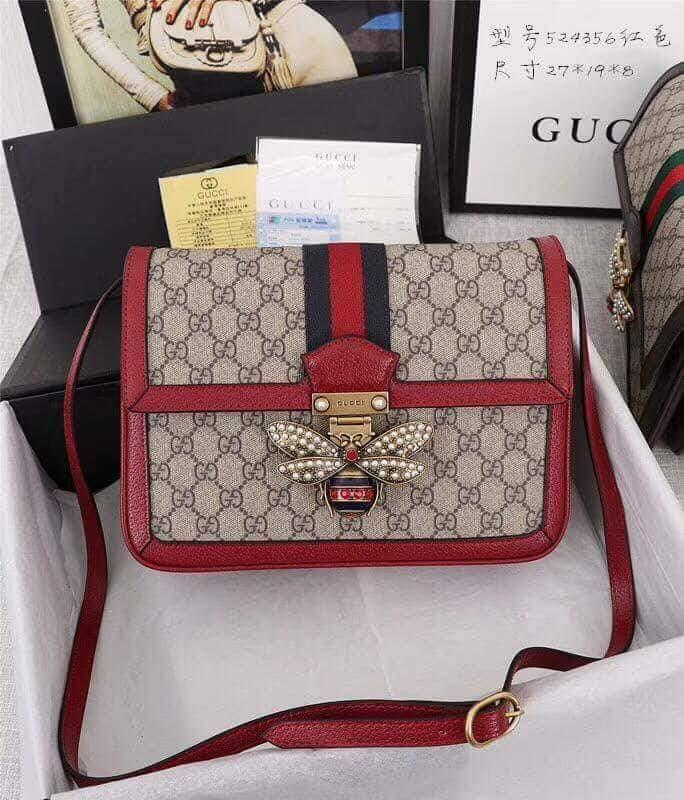 5abc12f33a68 Gucci Queen Margaret Medium GG Supreme Shoulder Bag on Carousell
