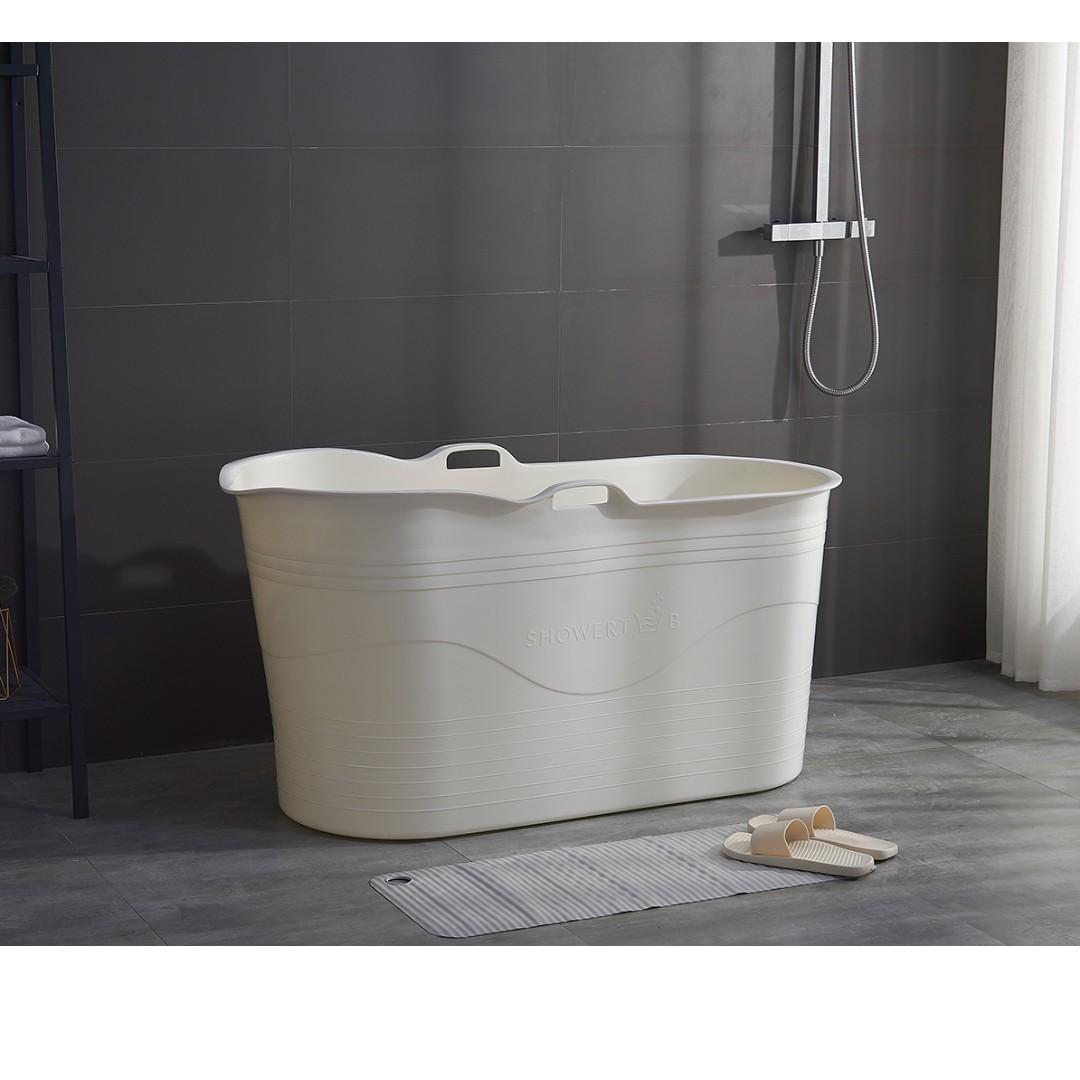 HDB Portable Bathtub Soaking Bathtub Portable Plastic Bathtub Small ...