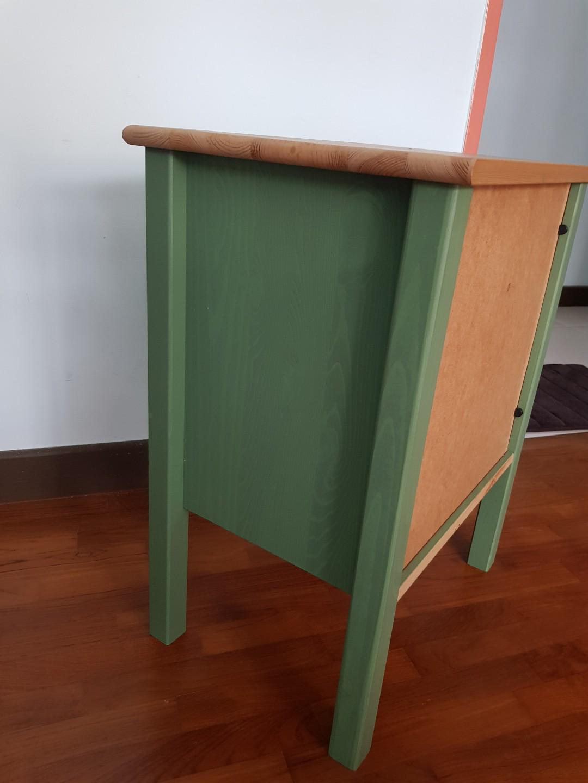 Ikea Hurdal Green Bedside table
