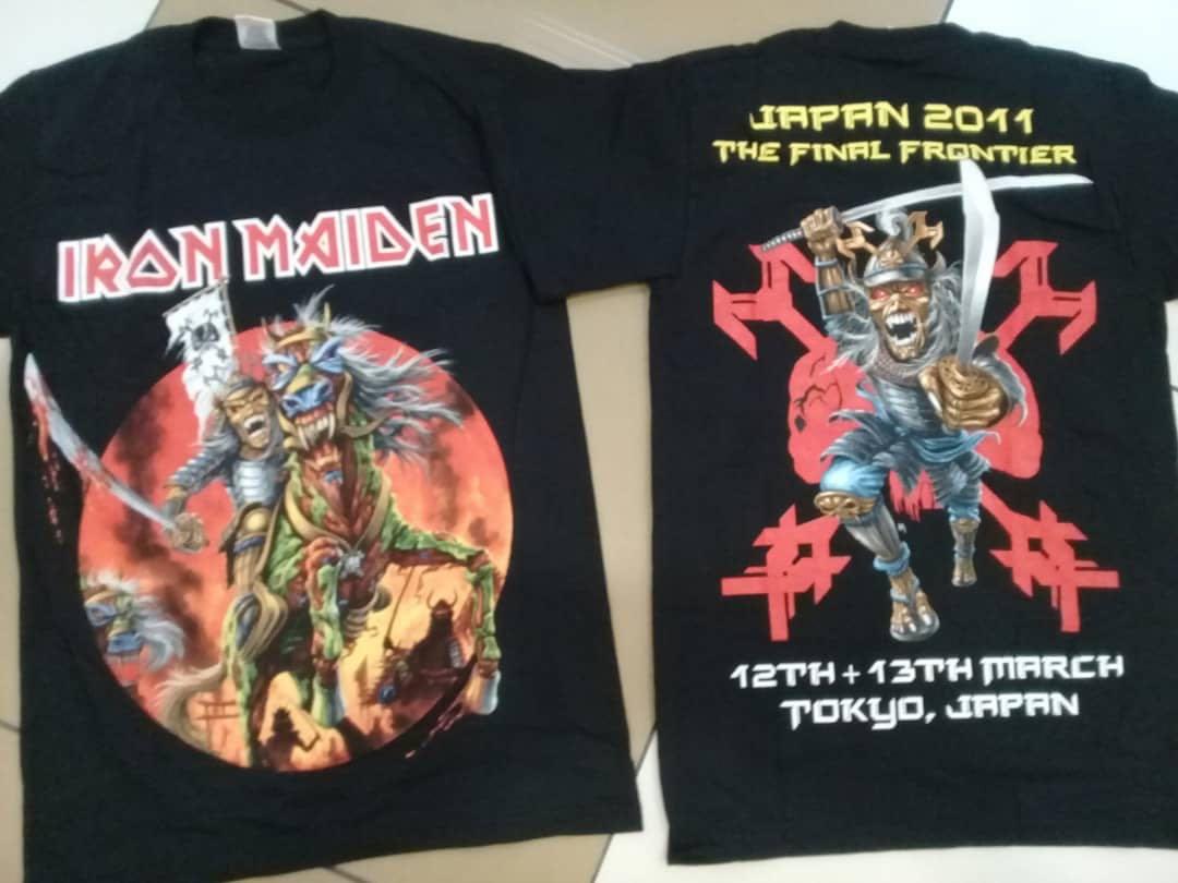 5bcfde6a2 Iron Maiden Rare Japan Tour Tshirt, Men's Fashion, Clothes, Tops on  Carousell