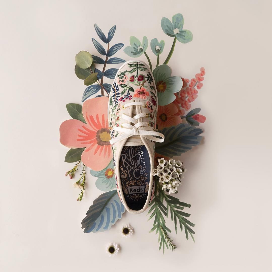 c5129a65c12a9 Keds x Rifle Paper Co Limited Edition Herb Garden Embroidered ...