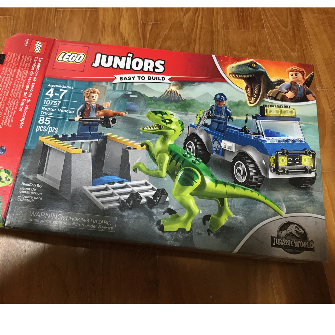 Lego Juniors Jurassic World 10757 Raptor Rescue Truck - no minifigs or dino