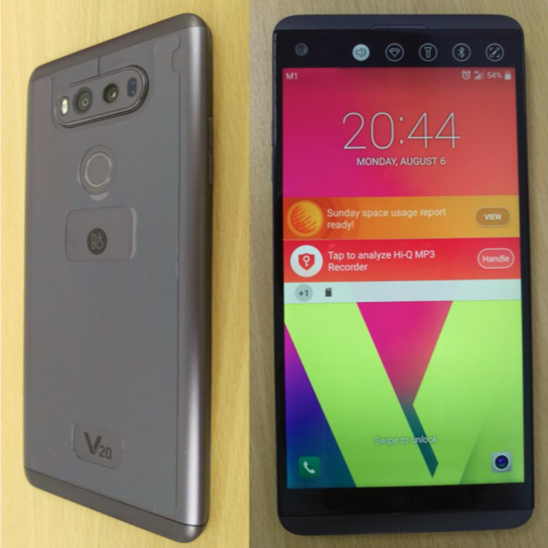LG V20 w Extra Battery & Charger, Spigen Case, Box & charger