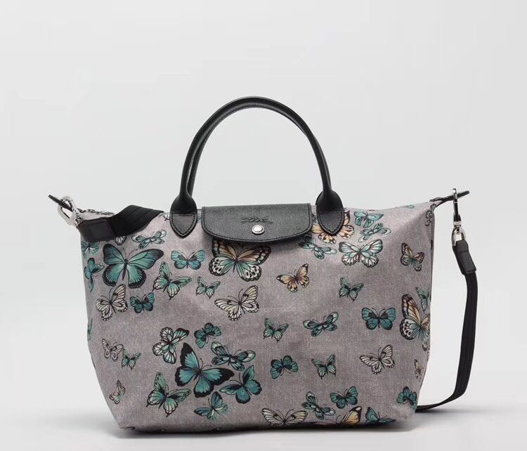 Longchamp limited 1515 medium size small butterfly sling bag ... a218ffe5517cf
