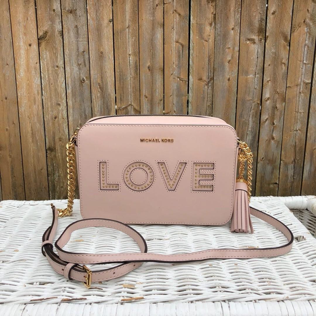 c463057b456c Michael Kors Ginny Love Medium Camera bag in solf pink, Women's ...