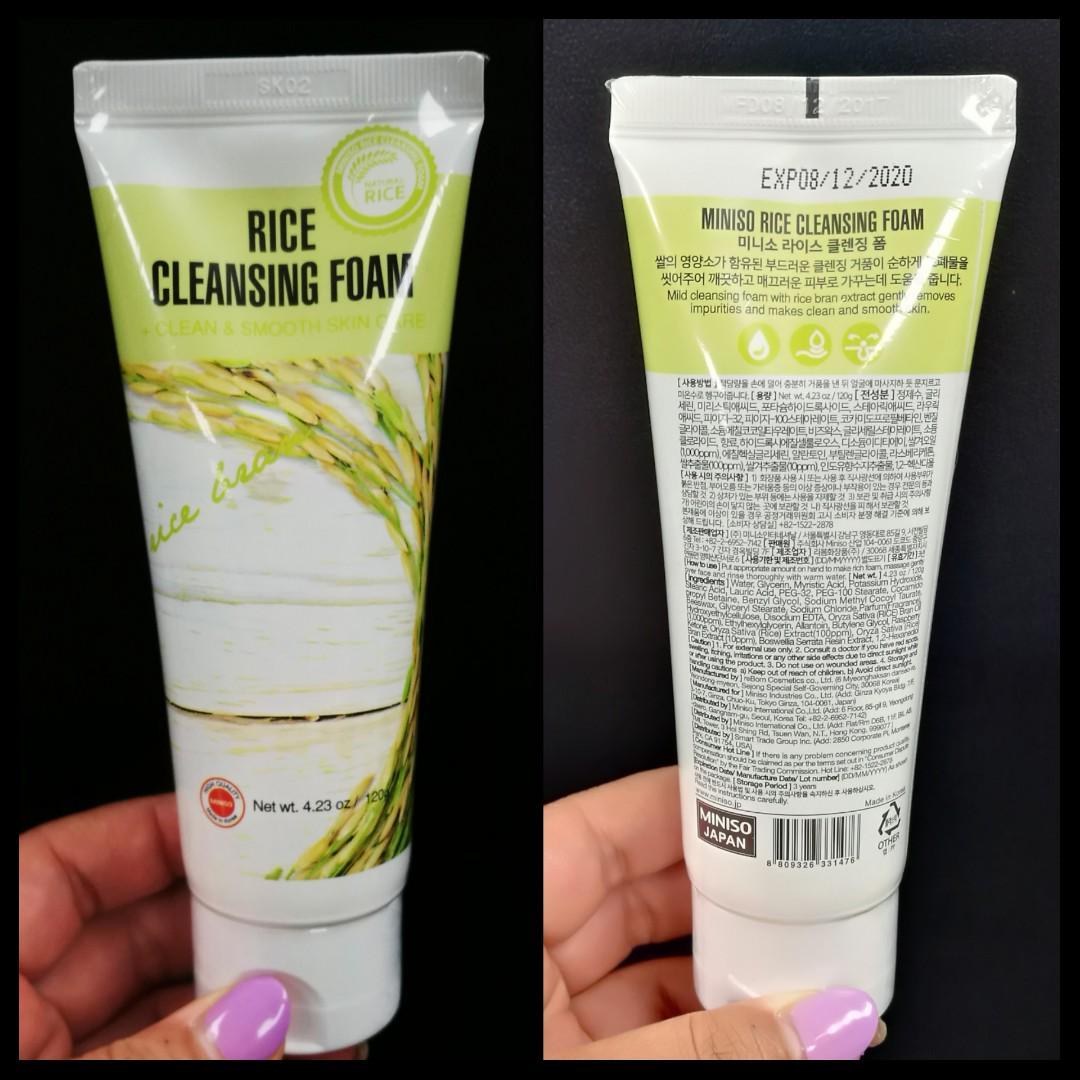 🌾🍚Miniso Rice Cleansing Foam 全新稻米洗面乳 (未開封) 100% new