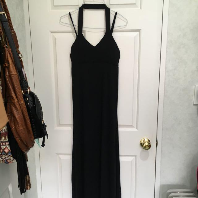 Mirrou black maxi dress