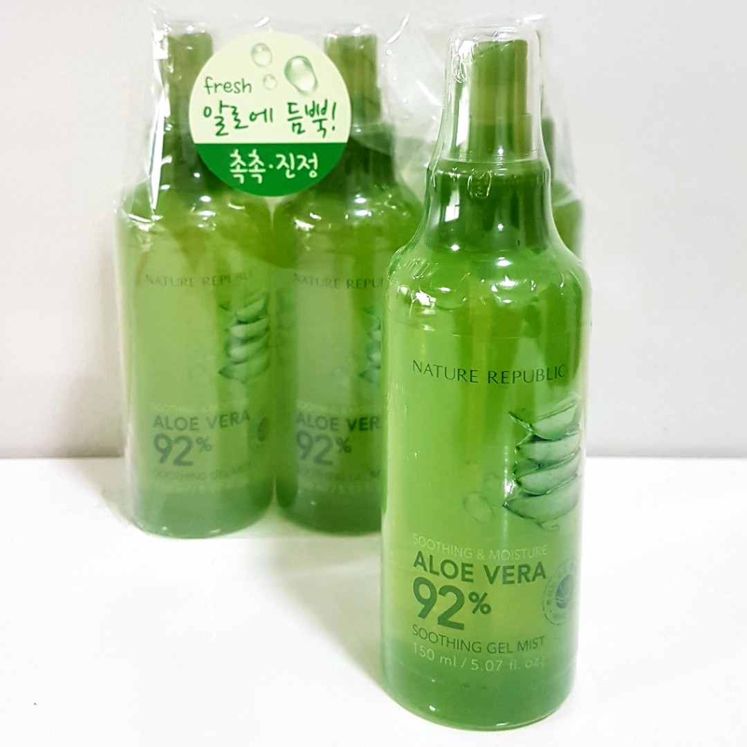 Nature Republic Aloe Vera 92 Soothing Gel Mist Health Beauty Jar 300 Ml Skin Bath Body On Carousell