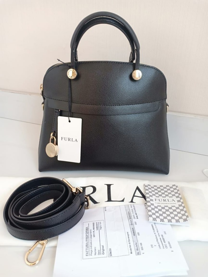 Nbu Furla Piper Dome Luxury Bags Wallets On Carousell Small Onyx Authentic