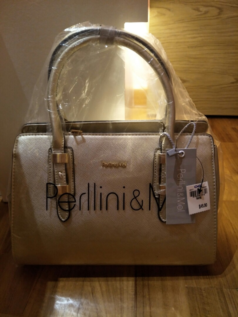 b4ce765c09a Perllini & Mel Gold Handbag, Women's Fashion, Bags & Wallets ...