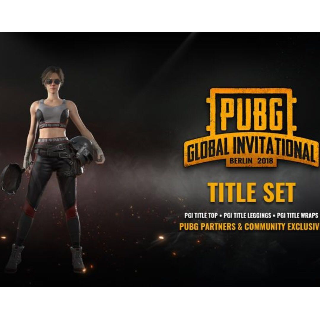 PGI Title Set PUBG Skin, Toys & Games, Video Gaming, Video