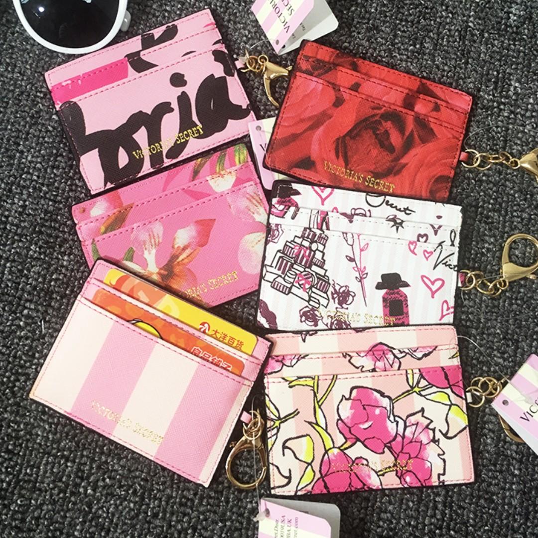 d75855153928e ⚡PO SALE⚡ VS Victoria's Secret Card Holder Case / Keychain (Pink Stripe,  Red Rose, Pink Rose, Orchid, Whimsical, VS Words) PO111700216 + FREE Post