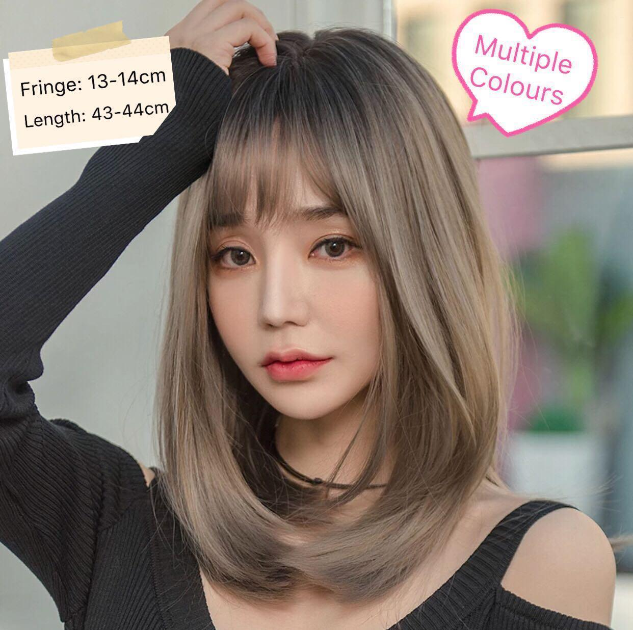 Pre Order Korean Style Shoulder Length Hair Wig Multiple Colours Full Wig Party Cosplay Ombre Women S Fashion Clothes Dresses Skirts On Carousell